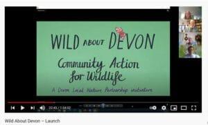 A screenshot from the Wild About Devon Webinar